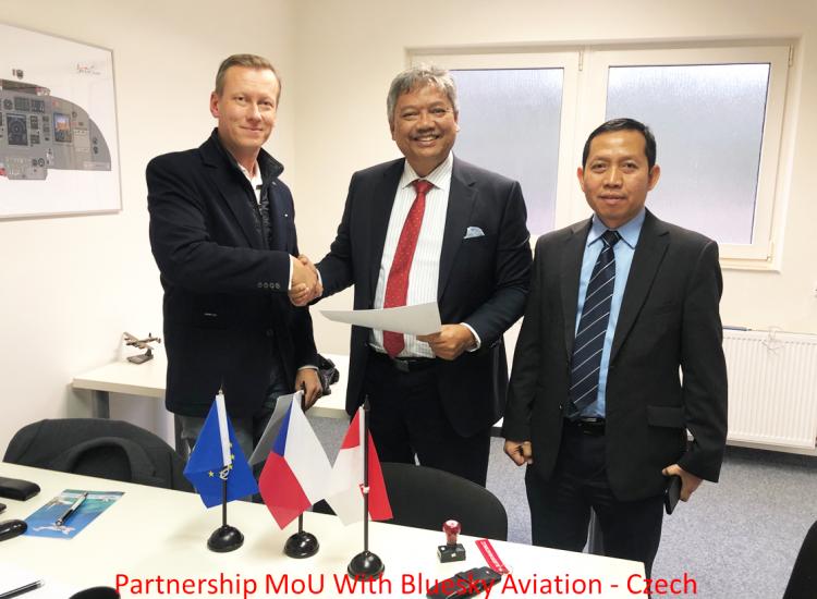 Partnership MoU With Bluesky Aviation - Czech